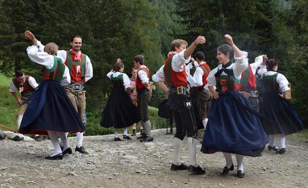 traditional costume of the Val Pusteria